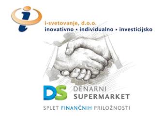 Družbi i-svetovanje d.o.o. in Denarni supermarket d.o.o. sklenili dolgoročno sodelovanje