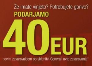 Generali zavarovalnica podarja 40 evrov